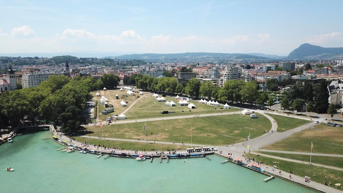 Location de tentes pour le Tour de France 2018 à Annecy
