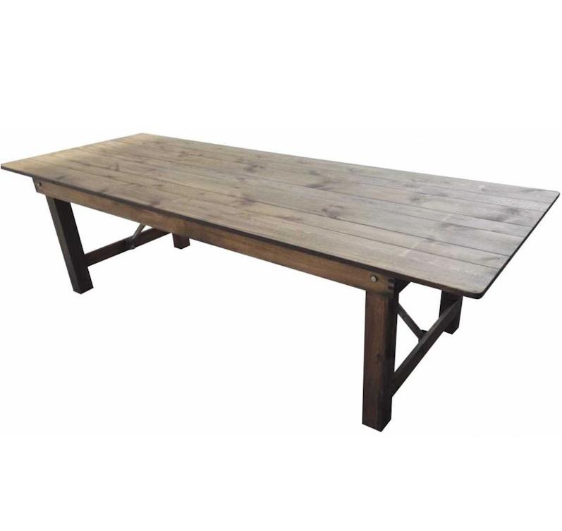 Table en bois rustique HERITAGE